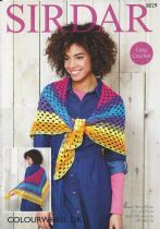 Sirdar Colourwheel DK - 8029 Shawl & Scarf Crochet Pattern